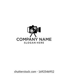modern shooting video logo design