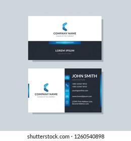 Modern simple business card. Clean and creative template design abstract vector background