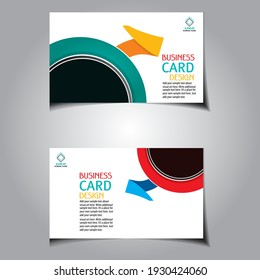 Modern simple business card set, template or visiting card. Vector illustration. clean business card design template. Minimal Corporate vector background, flyer design, name card template, vector.