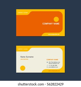 Modern simple Business card set template. design template. Vector illustration.