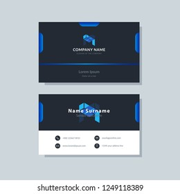Modern simple business card template. Clean and creative design abstract vector background