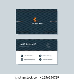 Modern simple business card template. Clean and creative design abstract background