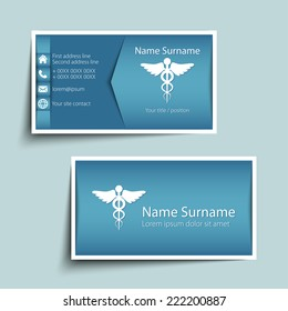 Doctor business card images stock photos vectors shutterstock modern simple business card template vector format colourmoves