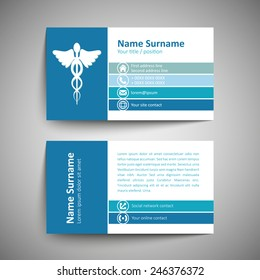 modern simple business card template vector format - Doctor Business Card