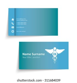 Doctor business card images stock photos vectors shutterstock modern simple business card template for physicians vector format reheart Gallery