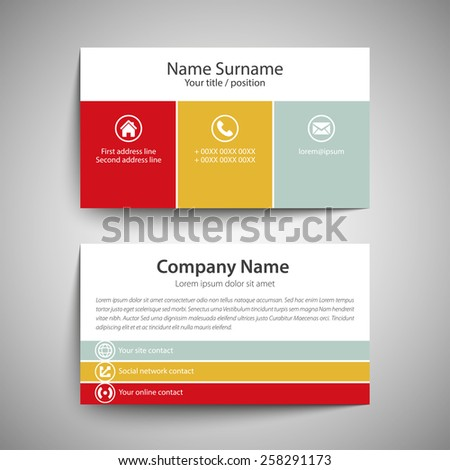 Modern simple business card template vector stock vector royalty modern simple business card template vector format flashek Choice Image