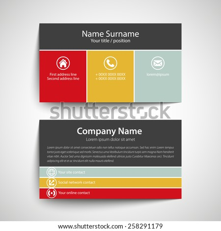 Modern simple business card template vector stock vector royalty modern simple business card template vector format flashek Images