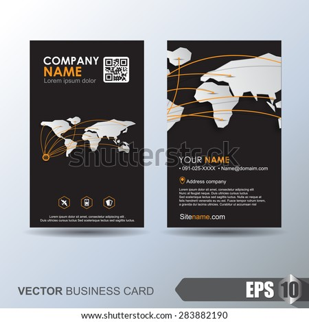 Modern Simple Business Card Template Business Stock Vector Royalty