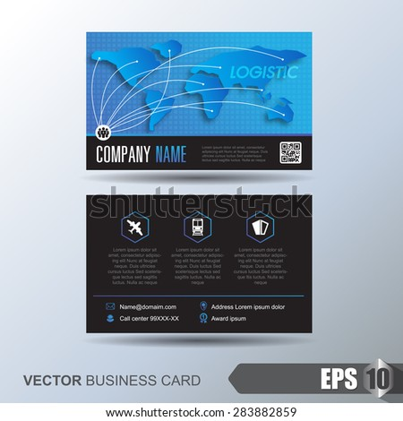 Modern simple business card template business stock vector royalty modern simple business card template business card for logistics or transport friedricerecipe Image collections