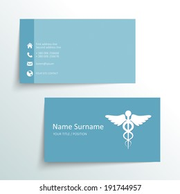 modern simple business card vector template - Doctor Business Card