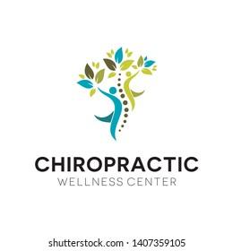 modern simple chiropractic wellness center logo,Creative Chiropractic Concept Logo Design Template.