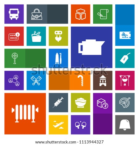 Modern Simple Colorful Vector Icon Set Stock Vector Royalty Free