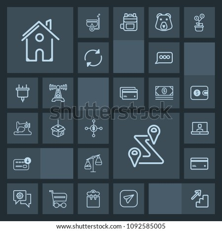 Modern Simple Dark Vector Icon Set Stock Vector (Royalty Free