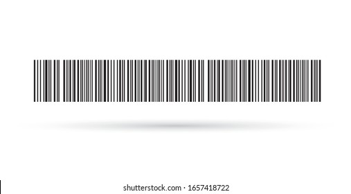 Modern simple flat barcode sign. Industrial QR code and scan barcode label. Marketing, internet concept. Flat black vector illustration on a white background. EPS 10