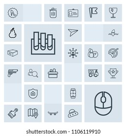 Modern, simple, grey vector icon set with map, clock, research, minute, medicine, email, home, win, protection, fashion, paint, extreme, watch, pin, skater, skate, award, frame, property, white icons