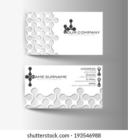 Modern simple light business card