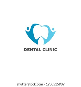 modern and simple logo for dental clinic family