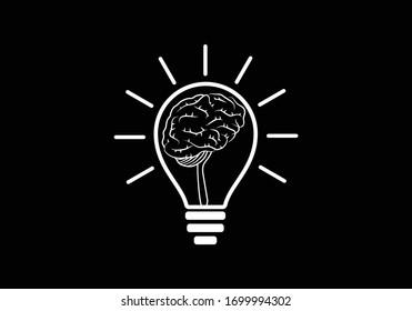 Modern and simple logo design for a brain, Brain logo icon sign symbol.