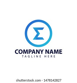 Modern and simple logo design for sigma symbol