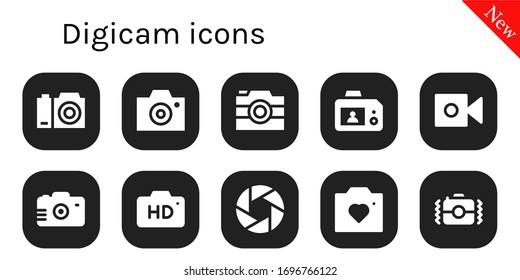 Modern Simple Set of digicam Vector filled Icons. Contains such as Camera and more Fully Editable and Pixel Perfect icons.