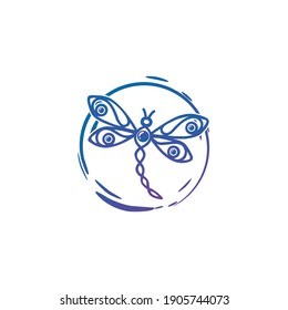 Modern Simple and Sophisticated Dragonfly Logo Designs