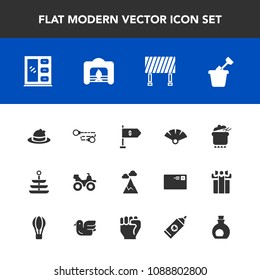 Art Icons Vector Collection Filled Art Stock Vector (Royalty
