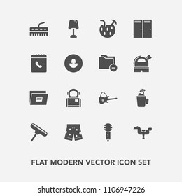 Modern, simple vector icon set with entrance, cosmos, phone, cosmonaut, hot, paper, interior, microphone, keyboard, sign, glass, child, brush, file, musical, space, white, play, kid, voice, door icons