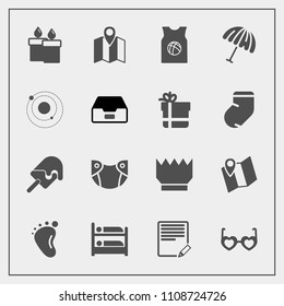 Modern, simple vector icon set with basketball, fashion, candle, fire, sweet, luxury, care, road, decoration, ice, small, write, flame, team, royal, diaper, text, map, infant, baby, cream, hotel icons