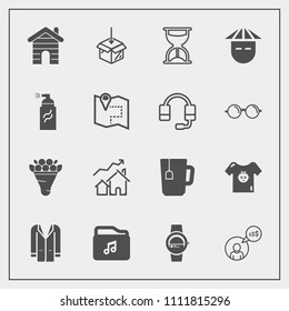 Modern, simple vector icon set with young, child, file, people, hour, flower, pink, clothing, jacket, clothes, gadget, watch, cup, outfit, fashion, baby, kid, real, increase, smart, style, work icons
