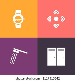 Modern, Simple Vector Icon Set On Colorful Background With Internet, Smart,  Background,