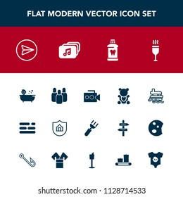 Modern, simple vector icon set with red, message, internet, spoon, ball, equipment, property, kid, email, protect, handle, ship, ocean, film, protection, table, sea, vessel, camera, web, fluffy icons