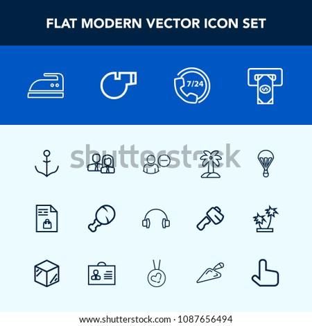 Modern Simple Vector Icon Set Staff Stock Vector (Royalty