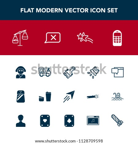 Modern Simple Vector Icon Set Projector Stock Vector
