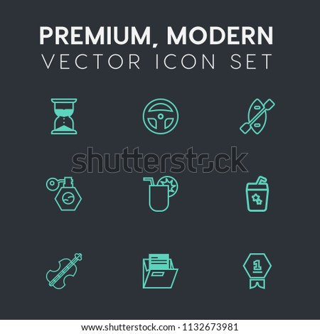 Modern Simple Vector Icon Set On Stock Vector (Royalty Free