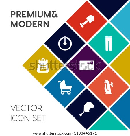 8492b6e0f Modern Simple Vector Icon Set On Stock Vector (Royalty Free ...