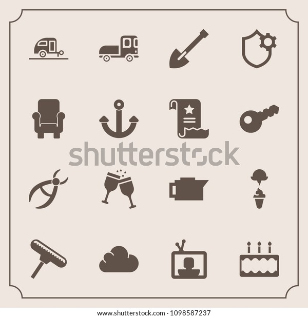 Modern Simple Vector Icon Set Transport Stock Vector