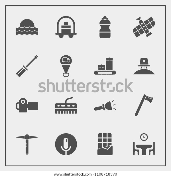 Modern Simple Vector Icon Set Spanner Stock Vector (Royalty