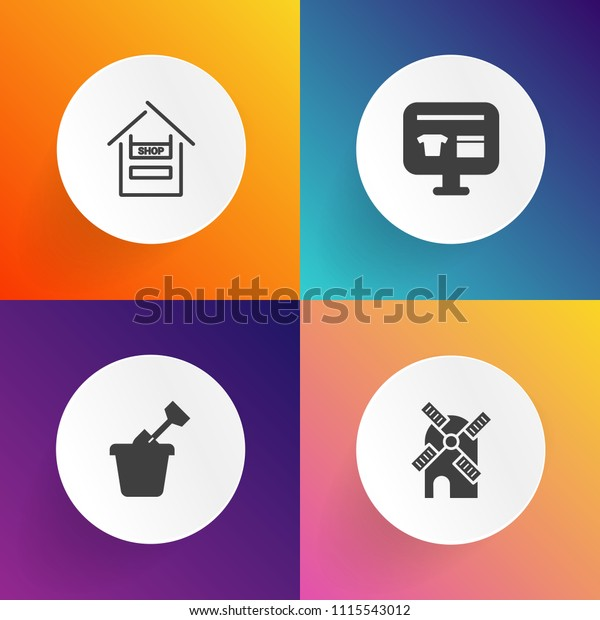 Modern Simple Vector Icon Set On Stock Vector Royalty Free 1115543012