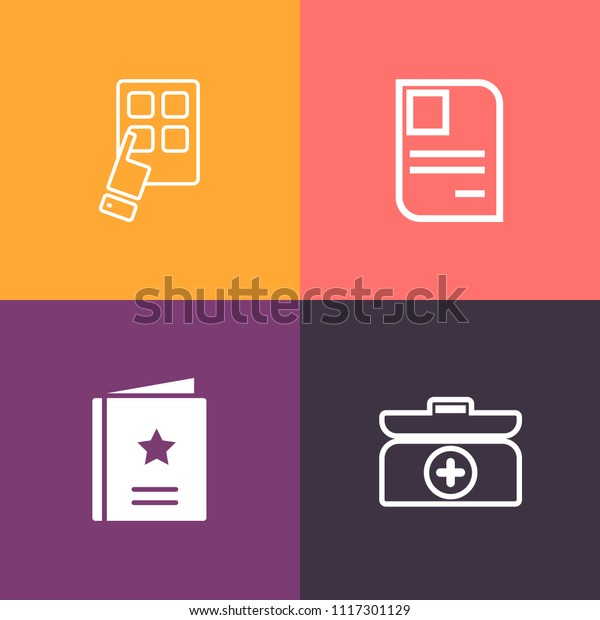 modern simple vector icon set on stock vector royalty free 1117301129 shutterstock