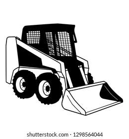 modern skid steer loader vector image