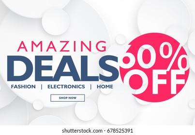 modern slae voucher or banner design with offer and deals details