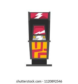 Modern slot machine vector Illustration on a white background
