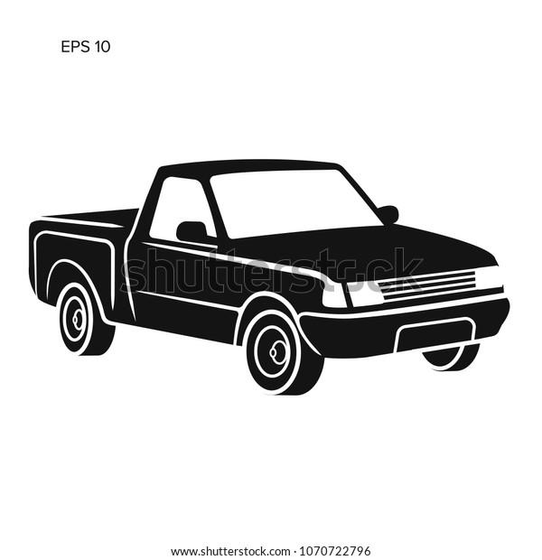 Modern Small Pickup Truck Vector Illustration Stock Vector