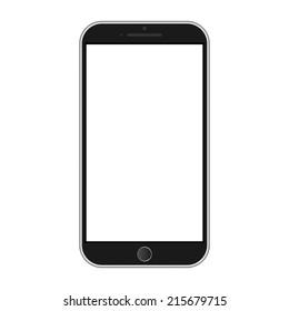 Modern smart phone isolation vector