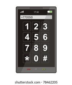 Modern smart phone, vector