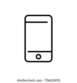 Modern smartphone line icon. Premium pictogram isolated on a white background. Vector illustration. Stroke high quality symbol. Mobile icon in modern line style.