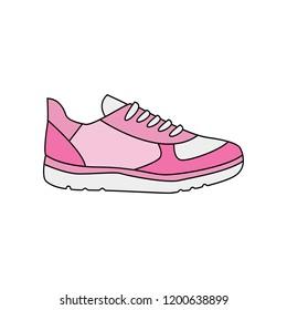 Modern sneaker for everyday wear. Vector illustration.