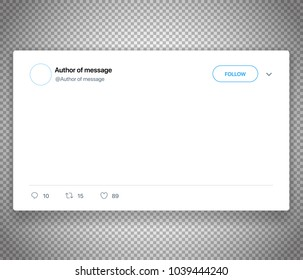 Modern social media post template isolated on white