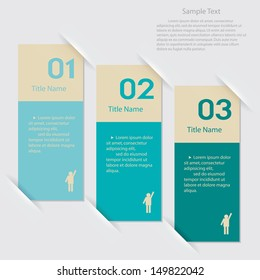 Modern soft color Design template / numbered banners / graphic or website layout vector