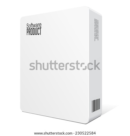 Modern Software Package Box White DVD Stock Vector (Royalty